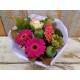 Bloementoef roze paars