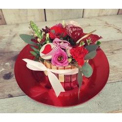 Valentijn Merci bloementaart groot