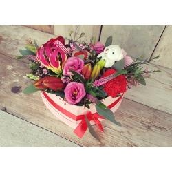 Hartvormig bloemstuk Valentijn groot